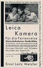 1930 Leica Kamera Kleine Aufnahmen Große Bilder 8x12 cm original Printwerbung