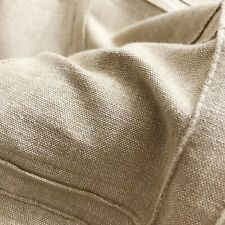 """Beige Rustic Pintuck Linen Fabric by the Yard - 52"""""""