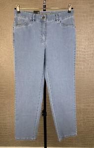 Neu! ZERRES Damen Gr. 40 kurz Stretch Jeans Hose Tina blau Denim trousers 509