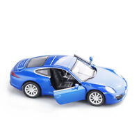 Porsche 911 Carrera S 5 inch Model Cars 1:36 Toys Bright blue Gifts Alloy Diecas
