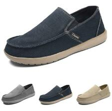 Mens Pumps Driving Moccasins Breathable Flats Ultralight Canvas Loafers Shoes D