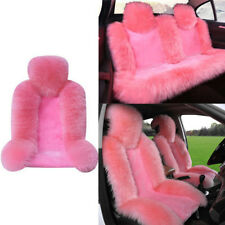 2Front Seat+1Rear Seat Pink Genuine Australian Sheepskin Fur Seat Covers Winter