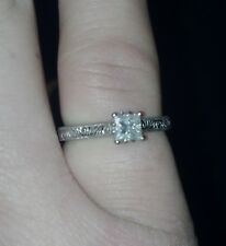 .5 carat princess cut diamond antique style engagement ring
