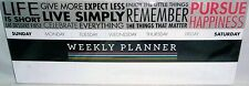 """MAGNETIC WEEKLY PLANNER Words to Live By  12 5/8"""" x 5"""""""