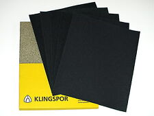 WET AND DRY SANDPAPER 60 - 2500 GRIT KLINGSPOR SAND PAPER MIXED YOU CHOOSE