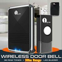 1byone 1000ft Twin Wireless Doorbell Battery Operated Door Bell Button Receivers