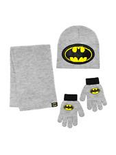 DC BATMAN Set di cappello taglia 3-8 anni guanti e sciarpa da bambino