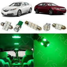 13x Green LED Interior Lights Package Kit for 2009-2014 Acura TL +Tool AT3G