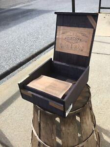 Kristoff Original Maduro Torpedo Empty Wooden Cigar Box 7x8.25x3