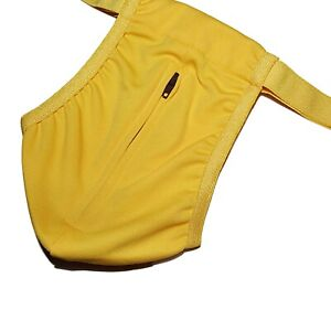 NEW MENS FUN NOVELTY BANANA THONG POSING POUCH PANTS One Sz STAG DO! OPEN ZIP