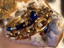 Antique 18K Gold and Enamel Victorian Bangle Bracelet