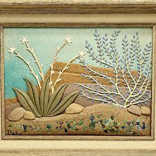Susan Popko Desert Dawn Sand Sculpture Art Framed Signed Wall Hanging