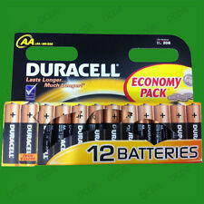 12 x DURACELL AA alcalino 1.5V Batterie,MN1500,MX1500,LR6,Retail PACCO,NUOVO