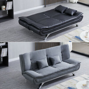 Modern Sofa Bed Recliner Single Double Sleeper Luxury Couch Settee Chair Fabric