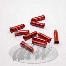 10 Bremszug- Schaltzug Endkappen für Bremsseil Schaltseil  rot