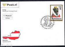 AUSTRIA 1 BUSTA PRIMO GIORNO FDC ANIMALI DOMESTICI CANE 2002