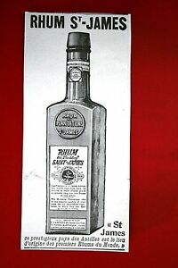 """Publicité Ancienne """" Rhum Saint-James"""" 1925"""