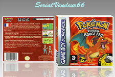 "BOITIER DU JEU ""POKEMON VERSION ROUGE FEU"", GAME BOY ADVANCE, FR. SANS LE JEU."