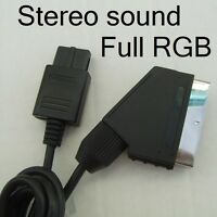 SNES PAL Scart TV cable lead - True RGB Picture Quality - foil screened - NEW