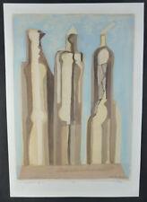 """Gemälde: Alfred Wittwar ( 1927-2016 ) Öl a. Papier. """" Figuren XI """" 1983. 42x30cm"""