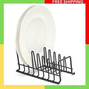simplywire - Plate Rack/Drainer - Kitchen Cupboard Storage Organiser - Black -