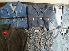 Bulk Clothing Lot: 6 Jacket Female Multi Vintage Denim Medium Small Sizes