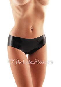 Latex BIKINI Panties / BLACK / (Brief-Panty) / Made in UK / 100