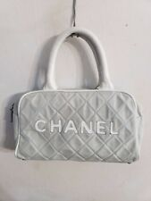 12f8bd87fc33 CHANEL Matelasse Mini Boston Sport Line Bag Canvas Handbag Tote Purse  Holder WoW