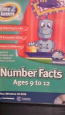 Easy To Learn Number Facts Ages 9 to 12 PC GAME - FREE POST *
