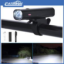 USB Fahrradlampe LED Fahrradbeleuchtung Licht  Smart Fahrad Scheinwerfer DE#