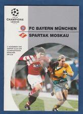 Orig.PRG   Champions League  1994/95  BAYERN MÜNCHEN - SPARTAK MOSKAU !! SELTEN