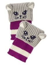 GYMBOREE POLAR PINK CAT BOOT SWEATER CUFF BOOT CUTIES 1-SIZE 3 4 5 6 7 8 10 NWT
