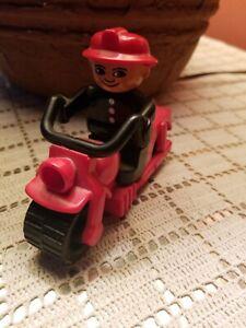 Vintage Lego DUPLO #2126 Motorbike Motorcycle and Fireman Figure Used