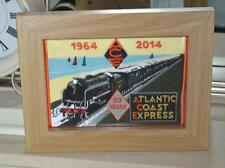 New Embroidered cloth badge /panel  - Atlantic Coast Express --50 years - framed