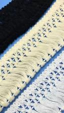 Ivory 4cm Venice Trim Tassel Fringe Cotton Lace Ribbon Price per 30cm DIY Craft