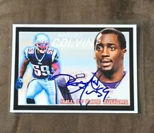 New England Patriots Rosevelt Colvin CUSTOM  autographed Card - Super Bowl Champ