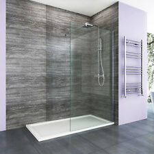 Walk in Enclosure &tray Wet Room Shower Screen and End Panel 8mm EasyClean Glass 760mm No 1200x900mm