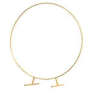 150Cm 5ft Circle Golden Hoop Wedding Arch Frame Balloon Flower Stand Backdrop UK