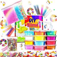 DIY Slime Kit Slime Supplies for Girls Boys Clear Slime for Kids with Glitter...