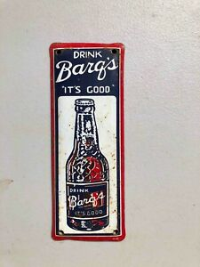 Used Drink Barq's its Good Root Beer Soda Painted Tin Advertising Door Push Sign