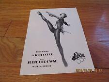 1970'S  A TOUT COEUR AVEC JULIET PROWSE Hotel Palm Beach France TABLE CARD LEGS