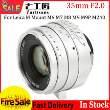 7artisans 35mm F2.0 Manual Lens Set for Leica M-Mount Cameras M6  M8 M9 M9P WT