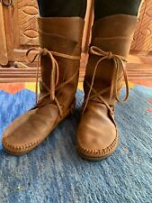 Brown moccasin Leather Vintage boots Size 6.5/7