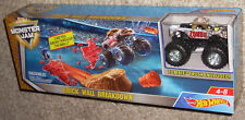 Hot Wheels Monster Jam Brick Wall Breakdown with Zombie Truck New!