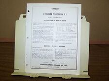 1961 Evinrude Outboard Factory Parts List 5.5 hp Fisherman Boat Motor