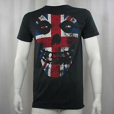 MISFITS - Union Jack British Fiend Skull Logo T-shirt - Size Large L - DANZIG