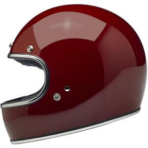 Biltwell Gringo DOT / ECE Motorcycle Helmet - Gloss Garnet - Choose Size
