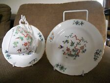 English bone china Tuscan. cup saucer and plate with exotic birds on