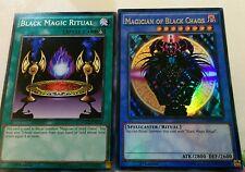 Yugioh Magician of Black Chaos Ultra Rare Card YGLD ENC01 MINT Holo Set Ritual