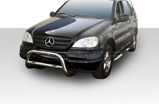 98-05 Mercedes ML W163 Stainless Bull Bar Bumper Guard By Black Horse BB2561-BR